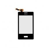 LG E400 Optimus L3 Touchscreen / Digitizer combinatie Zwart