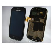 Samsung Galaxy S3 Mini i8190 Compleet Touchscreen met LCD Display assembly Zwart