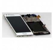 Samsung Galaxy S2 Plus i9105 Compleet Touchscreen met LCD Display assembly Wit