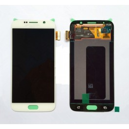 Samsung S6 Compleet Touchscreen met LCD Display assembly Wit