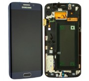 Samsung S6 Edge Compleet Touchscreen met LCD Display assembly Zwart