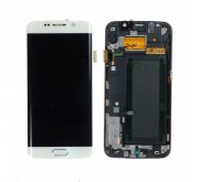 Samsung S6 Edge Compleet Touchscreen met LCD Display assembly Wit